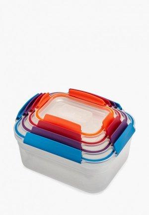 Набор контейнеров для хранения продуктов Joseph Nest Lock. Цвет: разноцветный