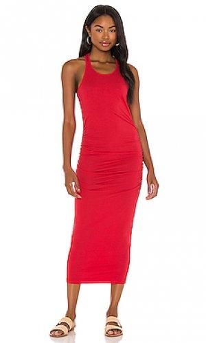 Платье миди Michael Stars. Цвет: красный
