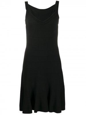 Приталенное платье мини Alaïa Pre-Owned. Цвет: черный