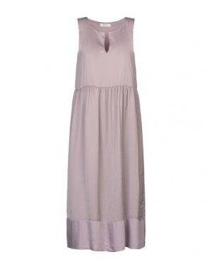 Платье до колена ALPHA STUDIO. Цвет: голубиный серый