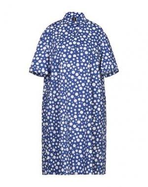 Платье до колена 1-ONE. Цвет: ярко-синий