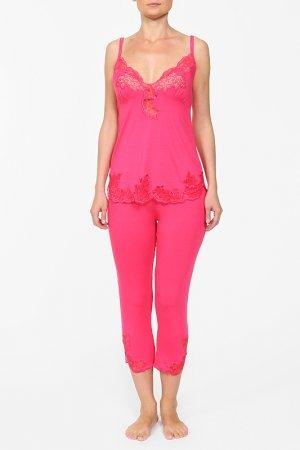 Комплект: майка и бриджи Cotton Club. Цвет: розовый