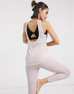 Розовая майка для йоги Nike-Розовый Nike Training