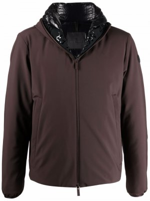 Куртка Lioret на молнии Moncler. Цвет: коричневый