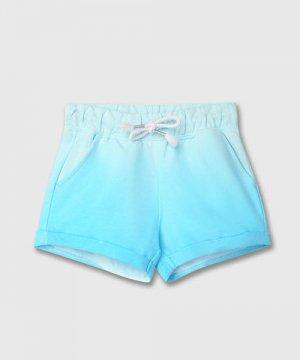 Трикотажные шорты для девочек O`Stin. Цвет: лазурный