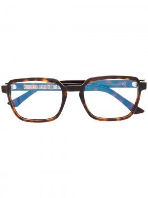 Очки в оправе черепаховой расцветки Cutler & Gross. Цвет: коричневый