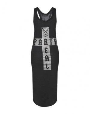 Платье длиной 3/4 BAD SPIRIT. Цвет: черный
