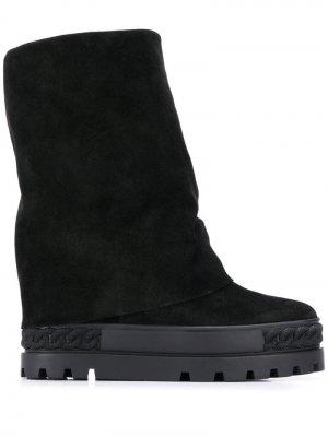 Ботинки по щиколотку Casadei. Цвет: черный