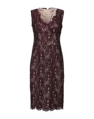 Платье до колена BABYLON. Цвет: красно-коричневый