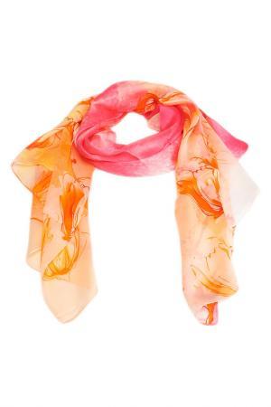 Палантин F.FRANTELLI. Цвет: розовый, оранжевый