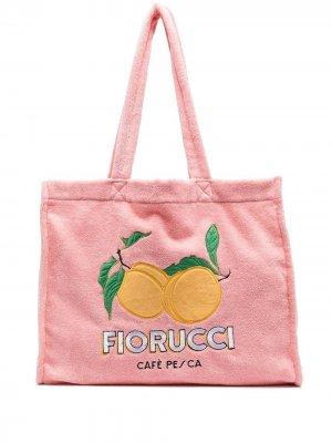 Сумка-тоут с логотипом Fiorucci. Цвет: розовый