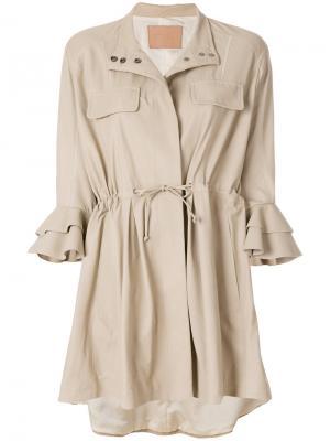 Куртка рубашечного типа Drome. Цвет: нейтральные цвета