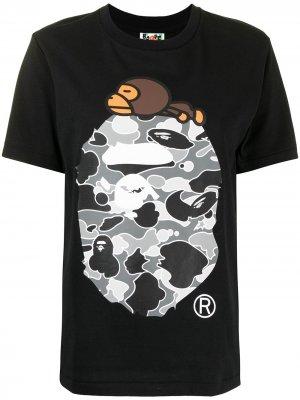 Resting Milo camouflage-ape T-shirt A BATHING APE®. Цвет: черный