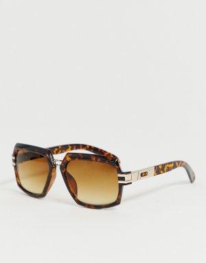 Квадратные солнцезащитные очки с пластиковой черепаховой оправой и градиентными стеклами -Коричневый ASOS DESIGN