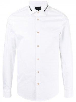 Logo-collar shirt Emporio Armani. Цвет: белый