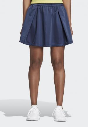 Юбка adidas Originals FSH L SKIRT. Цвет: синий