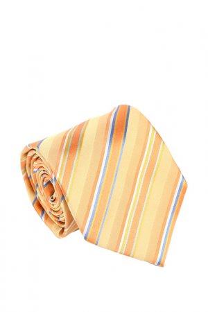 Галстук Basile. Цвет: оранжевый, бежевый, светло-сер