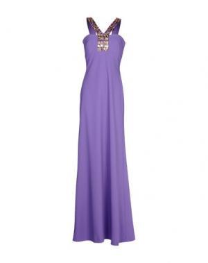 Длинное платье CLIPS. Цвет: светло-фиолетовый