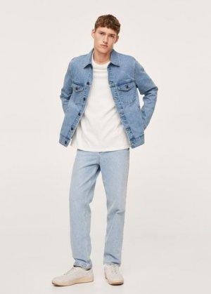 Джинсовая куртка среднего тона - Ryan Mango. Цвет: синий средний