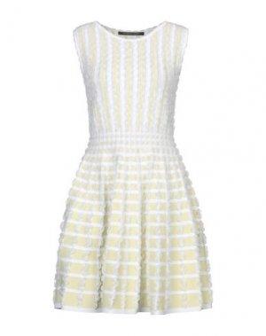 Короткое платье ANTONINO VALENTI. Цвет: белый