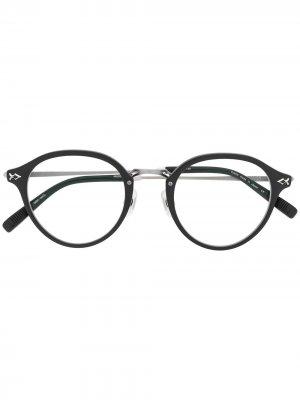 Очки в оправе pantos Matsuda. Цвет: черный