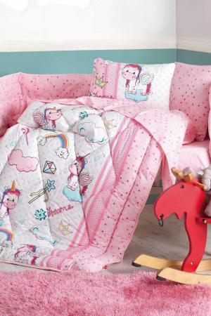 Комплект детского постельного белья Cotton box. Цвет: pink, white, turquoise