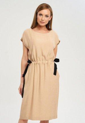 Платье Akimbo. Цвет: бежевый