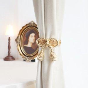 1шт Пружиння пряжка для штор в форме банта SHEIN. Цвет: золотистый