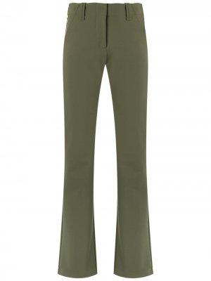Прямые брюки Gloria Coelho. Цвет: зеленый