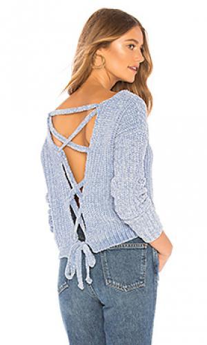 Пуловер sioux Lovers + Friends. Цвет: нежно-голубой