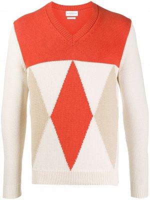 Diamond-pattern knit jumper Ballantyne. Цвет: оранжевый