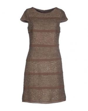 Короткое платье CARAMELO. Цвет: голубиный серый