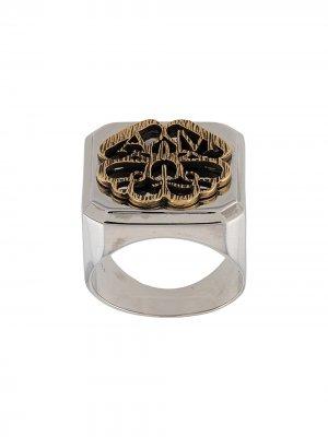 Декорированный перстень Alexander McQueen. Цвет: золотистый