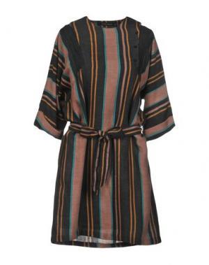Короткое платье ANTIK BATIK. Цвет: стальной серый