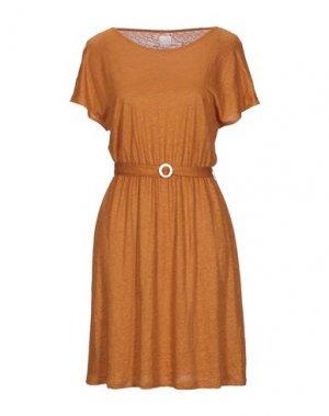 Короткое платье DES PETITS HAUTS. Цвет: охра