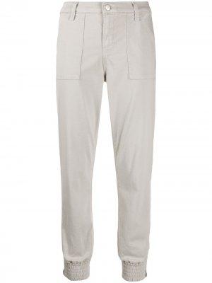 Укороченные спортивные брюки Arkin на молнии J Brand. Цвет: серый