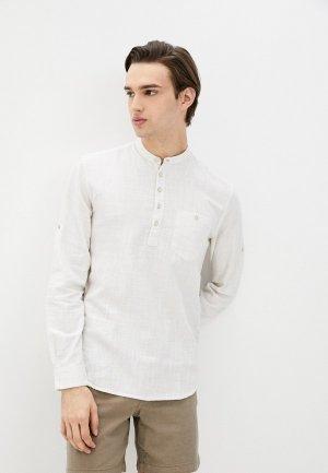 Рубашка Al Franco. Цвет: бежевый