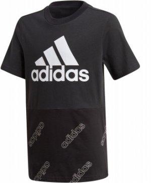 Футболка для мальчиков adidas, размер 140 Adidas. Цвет: черный