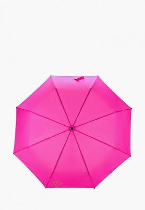 Зонт складной Braccialini. Цвет: розовый