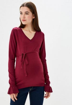 Пуловер Mamalicious. Цвет: бордовый