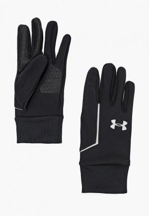 Перчатки Under Armour Mens SS CGI Run Liner Glove. Цвет: черный