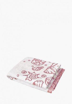 Полотенце DeNastia Ракушки. Цвет: белый