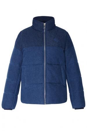 Стеганая джинсовая куртка Gino Claudie Pierlot. Цвет: синий
