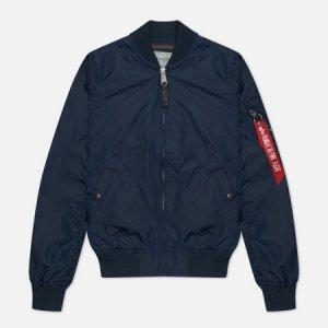 Женская куртка бомбер MA-1 TT Alpha Industries. Цвет: синий