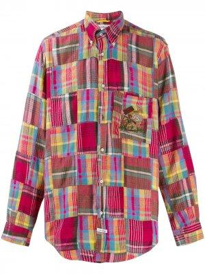 Рубашка в клетку технике пэчворк JC de Castelbajac Pre-Owned. Цвет: разноцветный