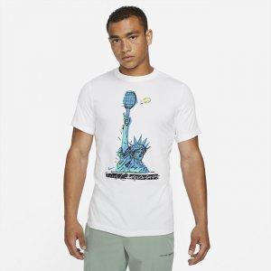 Мужская теннисная футболка Court Dri-FIT - Белый Nike