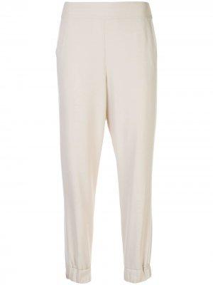 Зауженные спортивные брюки Pete Alice+Olivia. Цвет: белый