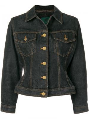 Облегающая джинсовая куртка Jean Paul Gaultier Pre-Owned. Цвет: серый