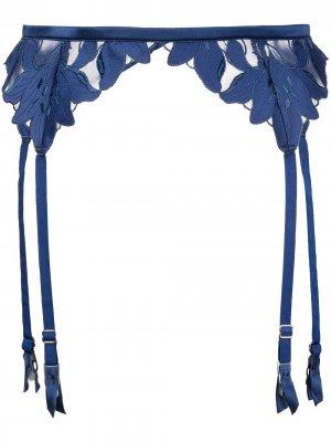 Пояс для чулок Lily Fleur Du Mal. Цвет: синий