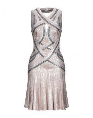 Короткое платье HERVÉ LÉGER. Цвет: серый
